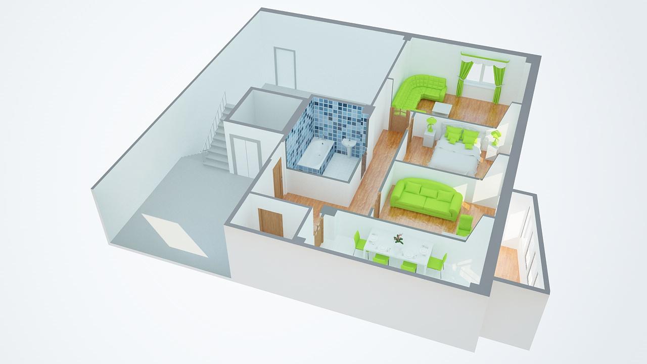 Квартира чистая иллюстрация